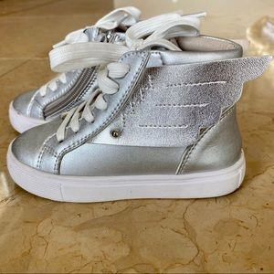 Other - Toddler Silver Wing High Top Sneakers